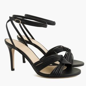 NIB Solid Black Strappy Heels Size 9